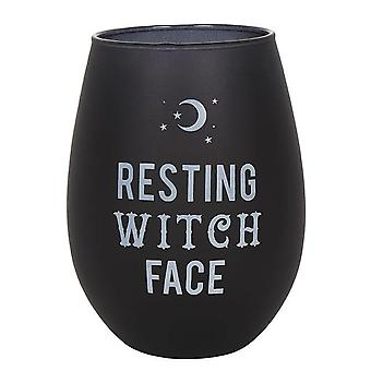 Gothic Homeware Resting Witch Face Stemless Wine Glass