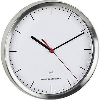 TFA Dostmann 60.3530.02 Radio Wall clock 220 mm x 45 mm Aluminium (brushed)