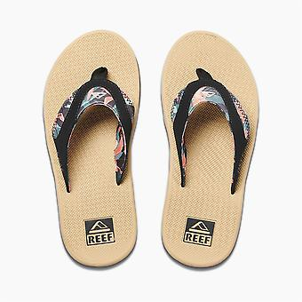 Reef Womens Sandals With Bottle Opener ~ Fanning hibiscus