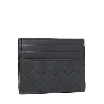 Bottega Veneta 635057vcpq38803 Men's Black Leather Card Holder