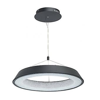 Techno 132 Cm Black Pendant Lamp With White Lampshade
