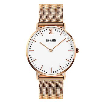 Skmei Mens Rose Gold Ultra Thin Classic Watch Stainless Steel Strap Clear Display SK1811RG