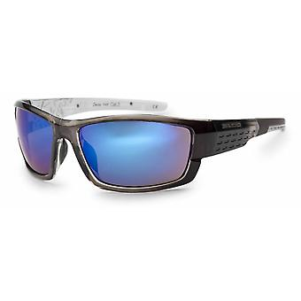 Bloc Eyewear Delta Crystal Black Sunglasses (Blue Mirror Lens)