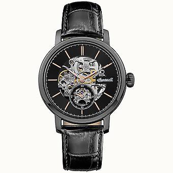 Ingersoll De Smith Automatische Black Dial lederen band herenhorloge I05705