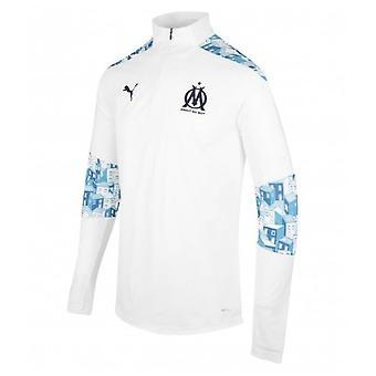 2020-2021 Marseille Quarter Zip Training Top (White)