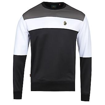 Luke 1977 Loki Kleur blok zwart sweatshirt