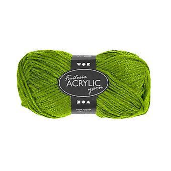 50g 3-Ply Mid Green Acrylic Yarn for Kids Knitting and Sewing Crafts