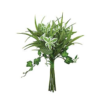 Artificial Fittonia, Euphorbia & Ivy Foliage Mix for Floristry Crafts - 30cm