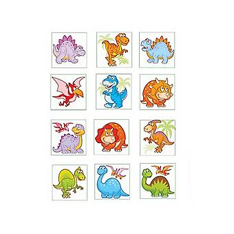 12 Dinosaur Temporary Tattoos for Kids Party Bags
