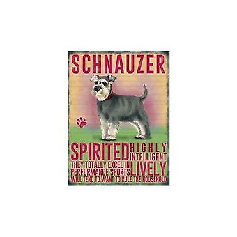 Schnauzer Hanging Metal Sign