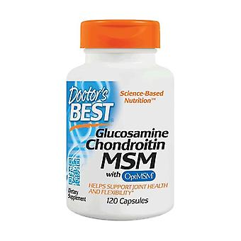 Glucosamine Chondroitin MSM met OptiMSM 120 capsules