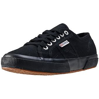 Superga 2750 Cotu Classic Womens Plimsoll Trainers in Black Black
