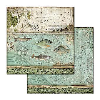 Stamperia Fish 12x12 Inch Paper Sheets (10pcs) (SBB657)