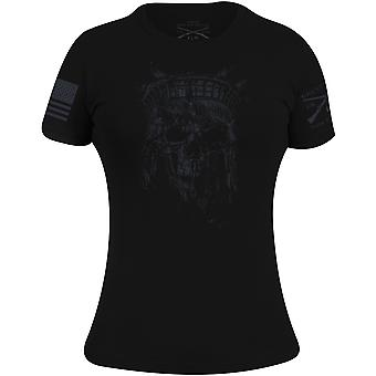 Grunt Style Women's Lady Liberty Spectre Reaper T-Shirt - Black