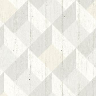 Galerie Wallcoverings Galerie Unplugged Wood Panel Effect Triangle Pattern Textured Vinyl Yellow Grey White  Wallpaper
