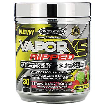 Muscletech, Performance Series, VaporX5 Ripped, Strawberry Limeade, 6,50 oz (184
