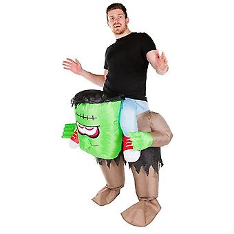 Inflatable Lift You Up Frankenstein Halloween Costume One Size Fits All Adults