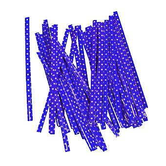 100PCS Gift Bag Sealing Wire Twist Ties Purple 10cm