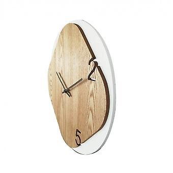 Rebecca Furniture Clock A White Wall Modern Wood Round Room 40x40x5