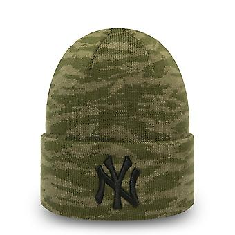 New Era Wintermütze Beanie - CUFF KNIT NY Yankees oliv camo