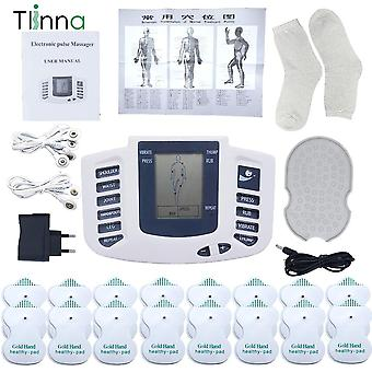 Body Electrical Muscle Stimulator Tens, Acupuncture Slimming Massager, 16 Pads