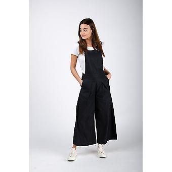 Bluebell ladies culotte dungarees black