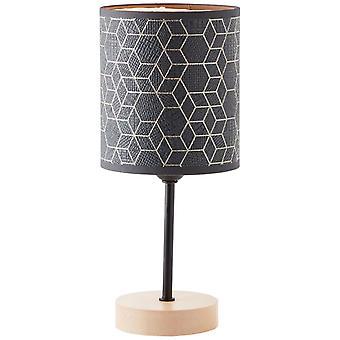 LUZ de mesa de galance BRILLANTE, pequeñas luces interiores negras, lámparas de mesa, 1x A60, E27, 40W, adecuado para lámparas normales