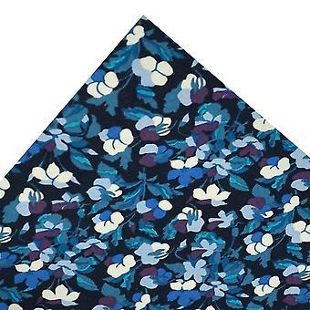 Solmiot Planet Van Buck sininen & violetti kukka tasku neliö tehty Liberty Kangas