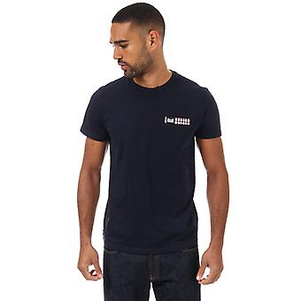 Men's Weekend Offender Hopper Check Pocket T-Shirt in Blue