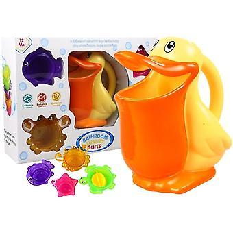 Spielzeug Pelikan mit Mustern für den Pool