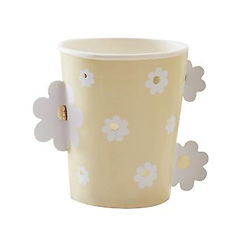 Daisy Easter Paper Party Cups - Baby Shower - Vaisselle x 8