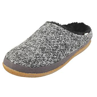 Toms Ivy Heathered Sweater Knit Womens Slippers Shoes in Black