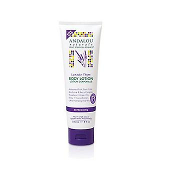 Andalou Naturals Body Lotion, Refreshing Lavender Thyme 8 Oz