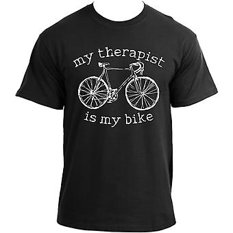 My Therapist Is My Bike T-Shirt I Cycling Top I Bicycle Tee Sports Cyclist Tshirt For Men