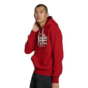 Superdry Vintage Logo Rising Sun Hood - Rouge Red