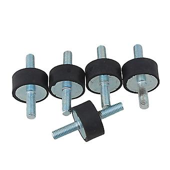 5PCS 8mm Rubber Double Ends Screw Anti-Vibration Mount Silentblock For Pump