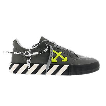 OFF WHITE Low Vulc Sustainable Leather Grey OMIA085F20LEA004970 shoe