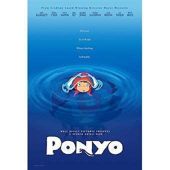Ponyo Alkuperäinen Elokuvajuliste Advance Style
