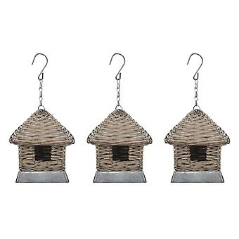 Birdhouse 3 pcs. Basket willow