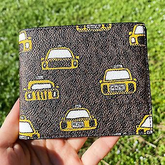 Michael kors cooper slim billfold bifold brown taxi yellow men's wallet