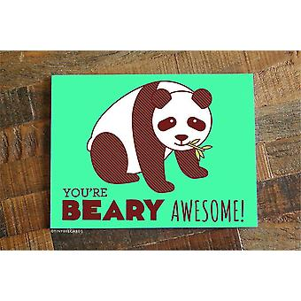 You're Beary Awesome - Love Or Friendship Card