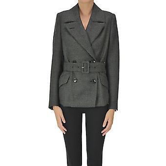 Dries Van Noten Ezgl093199 Women's Grey Wool Blazer