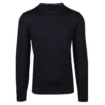 Hugo Boss Botto-L Fine Knit Crew Neck Jumper Black 50435442