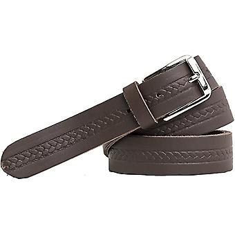 Shenky Leather Belt 3cm with Embossing Men's Ladies