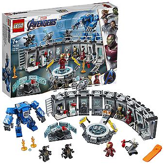 Lego 76125 marvel avengers iron man hall of armor, modulaarinen laboratorio, jossa on 6 marvel-universumiminihahmoa, s