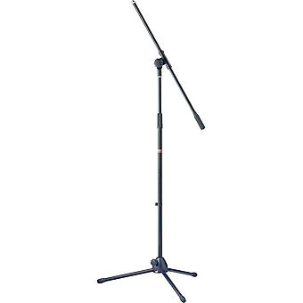 Stagg mis-1022bk microphone boom stand with folding legs - black 105 to 167 cm