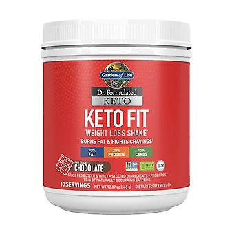 Dr. formulated keto fit, chocolate 365 g of powder