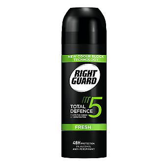 Right Guard 6 X Right Guard Total Defence Deodorant Aerosol For Men - Fresh