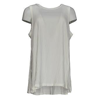 AnyBody Women's Top Cozy Knit Swing Tank Blanc A374528