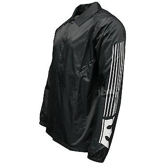 Supra Mens Stripped Coaches Jacket Wind Breaker Coat Charcoal 104056 R5B